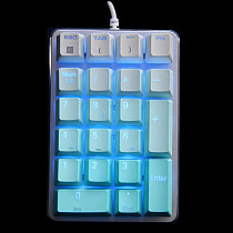 Unicorn 21 Keys PBT Keycaps Mechanical Keyboard Numeric Desktop Laptop Keypads - Ice Blue Keycaps