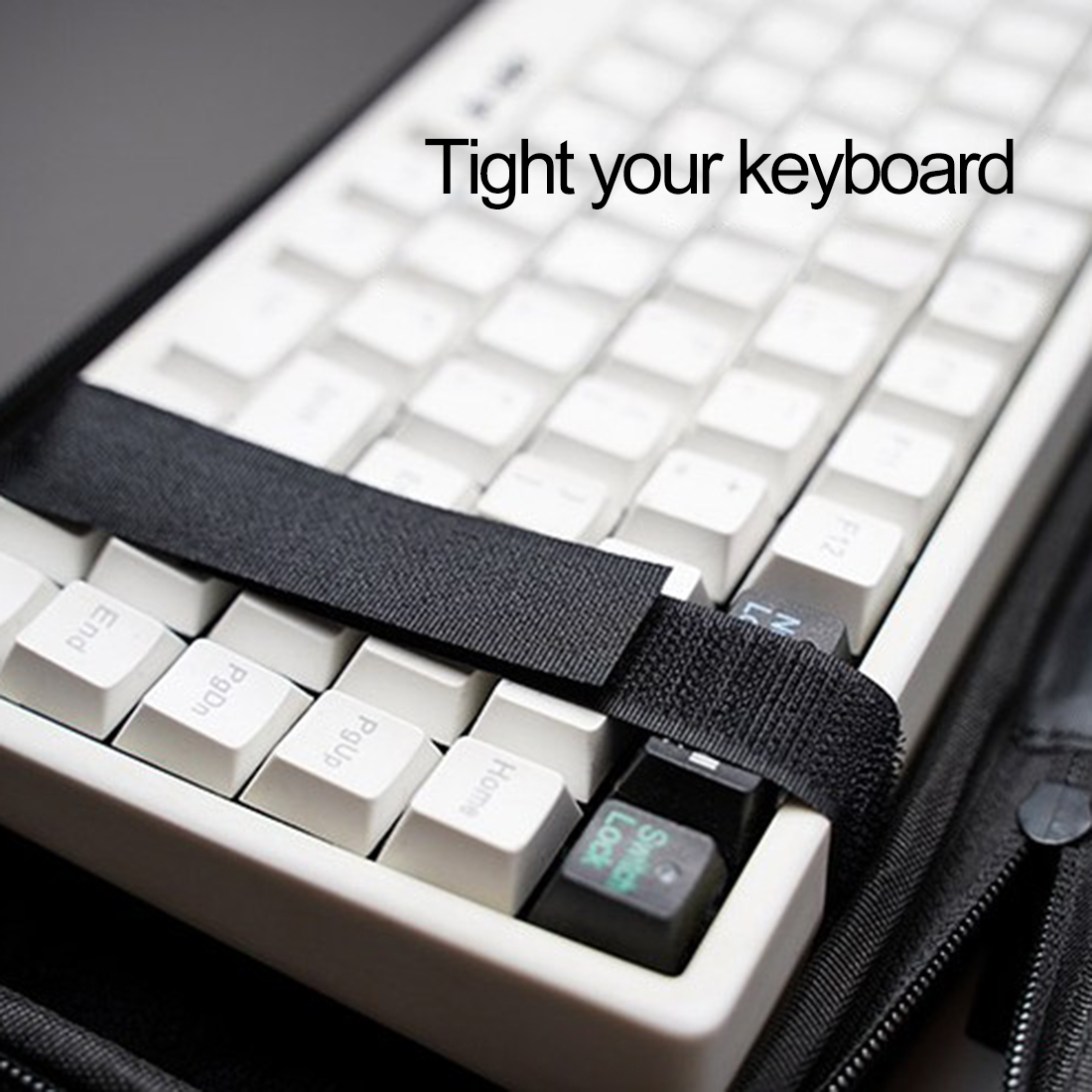 87 Keys Keyboard Storage Bag Carrying Case for 60% 75% 80% Mechanical Keyboard