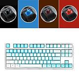 Unicorn 87 Keys Wired Mechanical Keyboard E-sports Gaming Keyboard - White / Frost Blue (Cherry Red Switch)