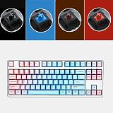 Unicorn 87 Keys Wired Mechanical Keyboard E-sports Gaming Keyboard - White / Blue (Cherry Red Switch)