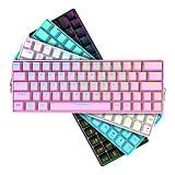 Shark64 64-Key Gaming Mechanical Keyboard Wireless Bluetooth Wired Dual-mode RGB Backlight