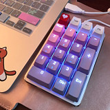 Unicorn 21 Keys PBT Keycaps Mechanical Numerical Keyboard Desktop Laptop Keypads - Purple Pink Keycaps