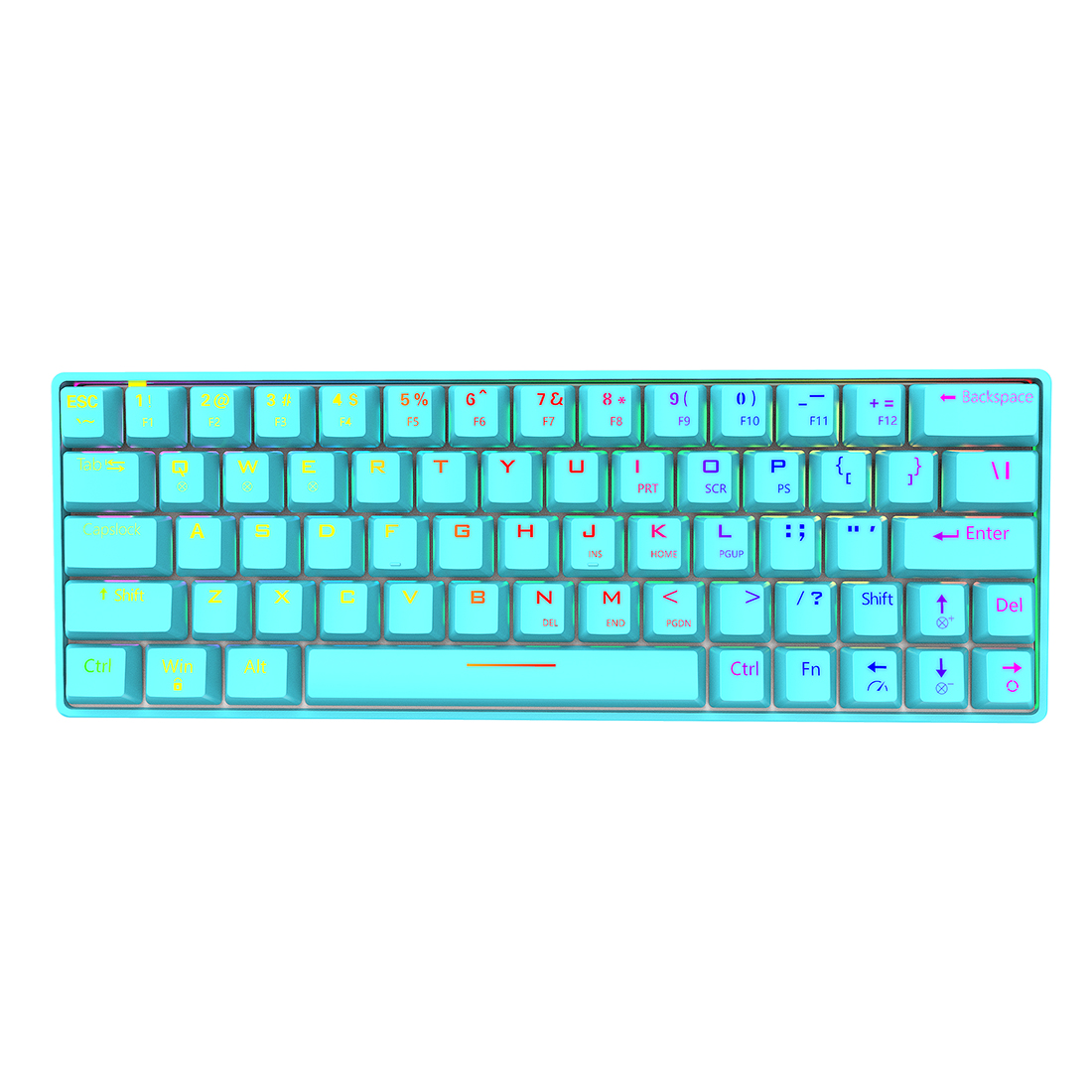 Shark64 60% Mechanical Keyboard 64-Key Bluetooth Wired Dual Mode RGB Backlight Gaming Keyboard