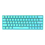Shark64 60% Mechanical Keyboard 64-Key Wireless Bluetooth Wired Dual-mode RGB Backlight for PC Gaming