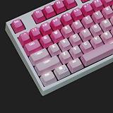 Unicorn 87 Keys Gaming Mechanical Keyboard Wired for E-sports Games (White Backlit + Pink Keyboard)
