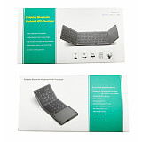 63 Keys Foldable Bluetooth Keyboard Portable Mini Wireless Keyboard with Touchpad