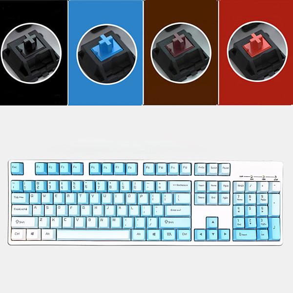 Unicorn 104 Keys Wired Mechanical Keyboard E-sports Gaming Keyboard