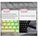 Unicorn 104pcs PBT Keycaps Double Shot Backlit Keycaps for DIY 60% 87/104 space65 TKL Matrix PBT