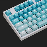 Unicorn 87 Keys Gaming Mechanical Keyboard Wired for E-sports Games (White Backlit + Frost Blue Keyboard)