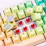 Unicorn 87 Keys Wired Mechanical Keyboard E-sports Gaming Keyboard - White / Rainbow (Cherry Red Switch)