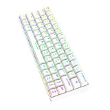 Shark64 Gaming Mechanical Keyboard 64-Key Wireless Bluetooth Wired Dual-mode RGB Backlight - White