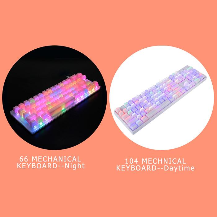 109-Key POM Jelly Keycaps Doubleshot Translucent OEM Profile for DIY 60% /87 TKL /104 /108 MX Switches PC Gaming Mechanical Keyboard