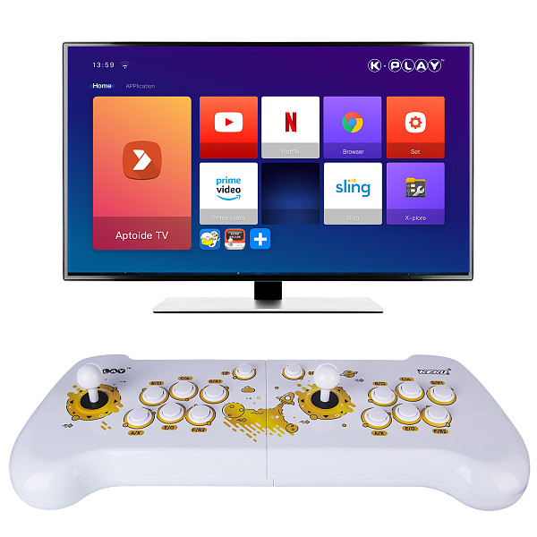 K-Play Upgrade Retro Arcade with Built-in Games Multipurpose HD Game Console Family Growth Platform 1.0 Re-Live Your Childhood Support PS4 /PC /TV /Android Phone