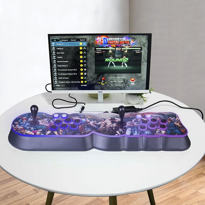 NEWEST Pandora Box 18S Pro 8000 Games LED Lighting Up WiFi Version (Artwork: NEW STREET FIGHTER)