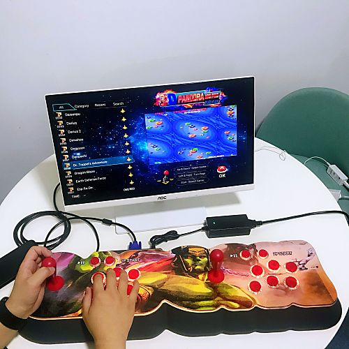 NEWEST Pandora Box 18S Pro 8000 Games LED Lighting Up WiFi Version (Artwork: Ancient Ogre)