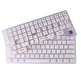 138pcs Milk White Keycaps Set PBT Dye-sub with Puller for 61/64/87/96/104 Keys GH60 /RK61 /Matrix /Joke Custom Gaming Mechanical Keyboard