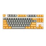 87 Keys Mechanical Gaming Keyboard Custom Hot Swappable (Grey Yellow Keyboard + White Light)