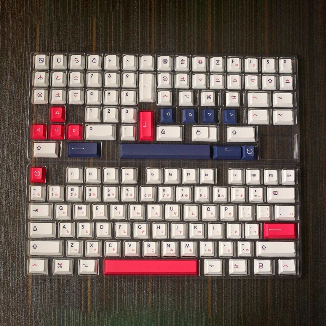 140pcs Japanese Layout Keycaps Set QX2 Profile PBT Dye-sub for 61/87/104 Keys GH60/RK61/Matrix/Joke Custom Gaming Mechanical Keyboard