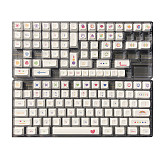 140pcs Coloured Pens Keycaps Set QX1 Profile PBT Dye-sub for 61/87/104 Keys/GH60/RK61/Matrix/Joke Custom Gaming Mechanical Keyboard