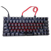 78 Keys Mechanical Keyboard Split Typing Gaming Keyboard (Black Frosted Mixed Light)