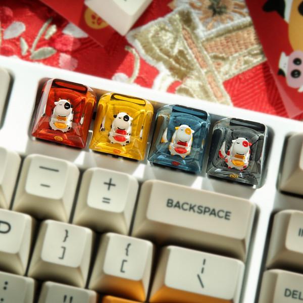 Vergo Resin Backlit Keycap SA R1 Profile Handmade Customized for Mechanical Keyboard