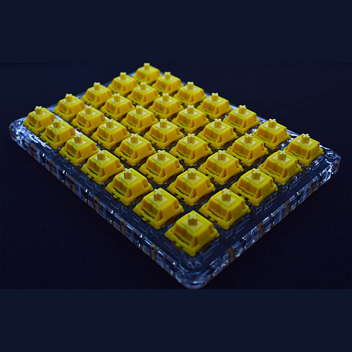 35pcs Gateron CAP Switches Linear Switches with Switches Tester for Mechanical Gaming Keyboard (3pin 50g Bottom)