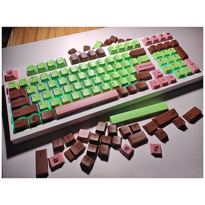 134pcs English Layout Keycaps Set Cherry Profile PBT Dye-sub for 61/87/104 Keys GH60/RK61/Matrix/Joke Gaming Mechanical Keyboard
