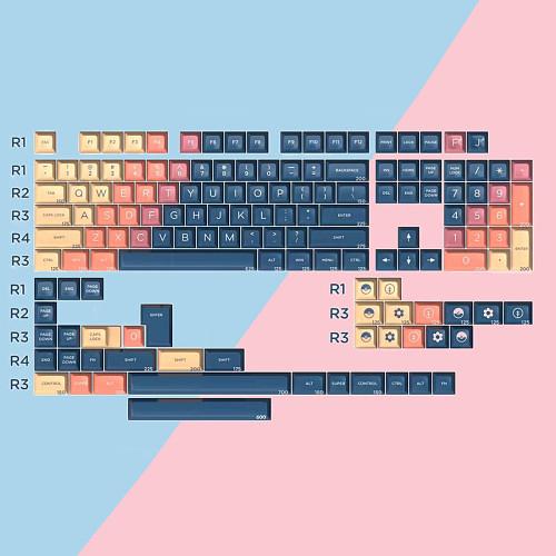 158pcs Yagekeycap Video Game Keycaps Set SA ABS for DIY 60% 87 TKL 104 108 MX Switches Gaming Mechanical Keyboard
