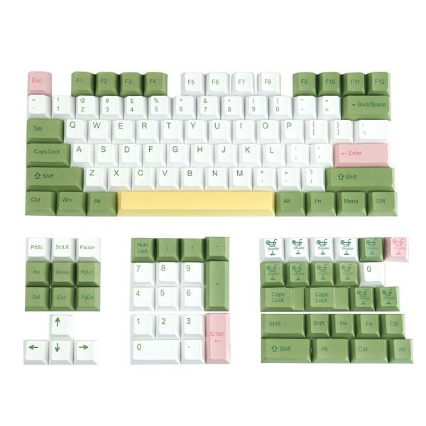 113pcs Mojito Style Keycaps Set Cherry Profile PBT Dye-sub for Gaming Mechanical Keyboard