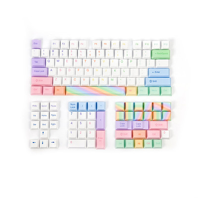 113pcs Colorful Style Keycaps Set Cherry Profile PBT Dye-sub for Gaming Mechanical Keyboard