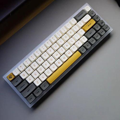 138pcs Shimmer Style Keycaps Set XDA Profile PBT Dye-sub with Puller for 61/64/87/96/104 Keys GH60 /RK61 /Matrix /Joke Custom Gaming Mechanical Keyboard