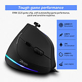Vertical Gaming Mouse RGB Light Wired Mouse for Computer Laptop