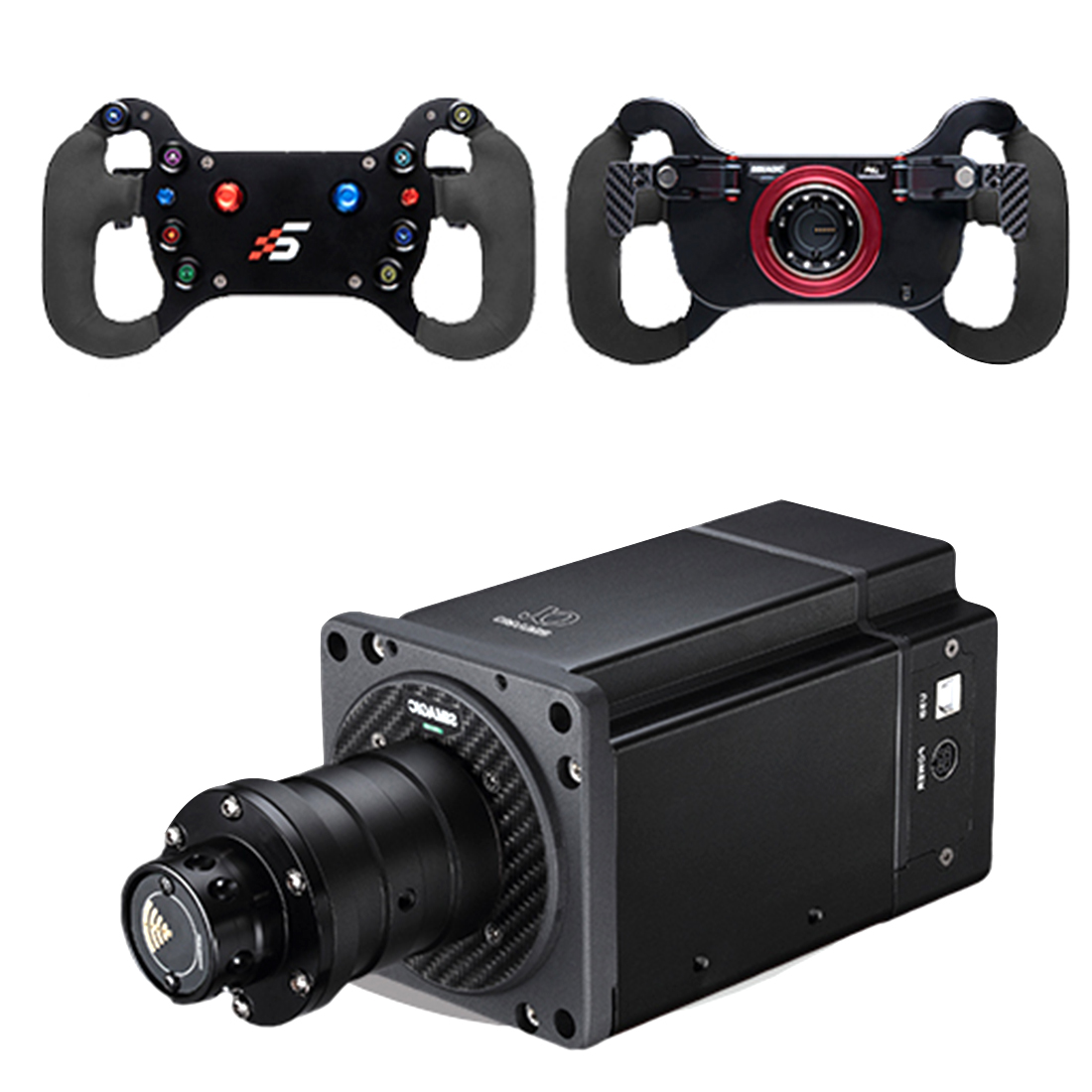 SIMAGIC Direct Drive Servo Alpha Base Racing Gaming Steering Wheel Simulator for Horizon 4/Euro Truck/DIRT/GTS/PS4 (Single GT4 Steering Wheel + Alpha Servo Base)