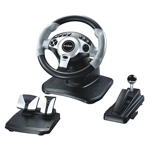 Vibration Racing Car Game Steering Wheel Pedals Kit Controller for PS4/PS3/XBOX 360/XBOX ONE/ANDROID/SWT/PC