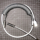 Keyboard Cable USB Type-C Coiled 1M Custom Handmade (RGB Lighting + DIY Cable) for Gaming Mechanical Keyboard
