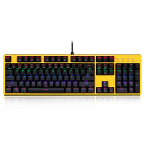 X8100 Mechanical Gaming Keyboard 104 Keys RGB Wired USB Water-proof (Blue Switches)