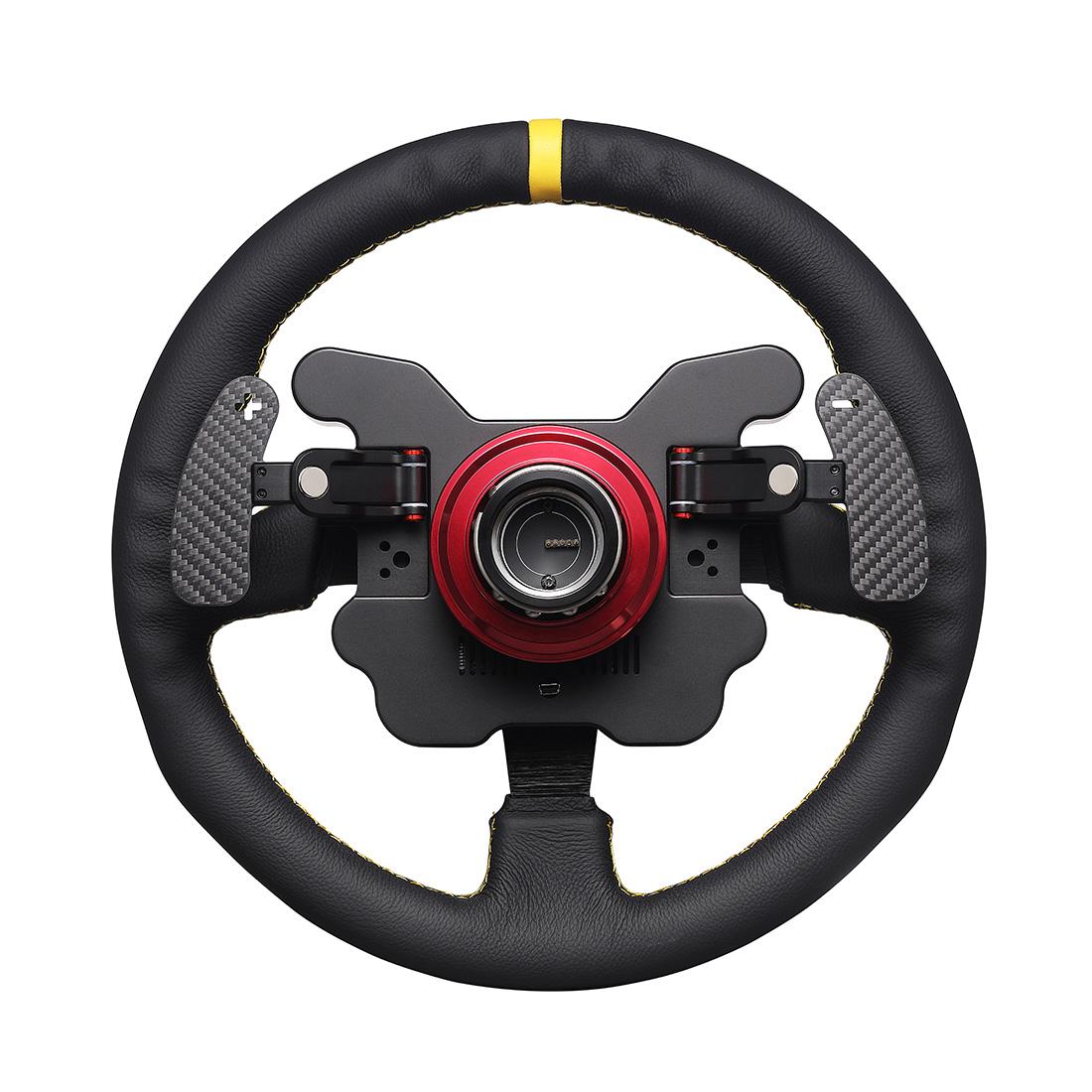 SIMAGIC Direct Drive Servo Alpha Base Racing Gaming Steering Wheel Simulator for Horizon 4 / Euro Truck / DIRT / GTS / PS4 (Single Shift Paddle Steering Wheel + Alpha Servo Base)