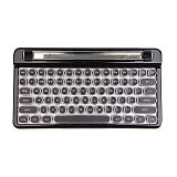 Retro Mechanical Keyboard Bluetooth with Wireless Mouse for Win/MAC/IOS/Linux (Blue Switches)