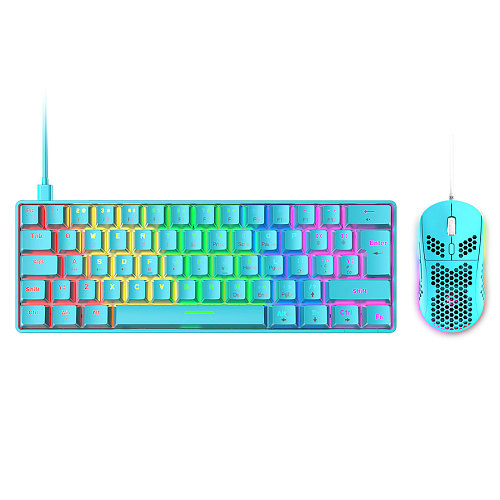 Gaming Mechanical Keyboard 60% with Mouse Combo RGB Chroma Wired for iPad Laptop