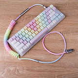 Mechanical Keyboard Cable Coiled USB Type-C 1.2M Custom Handmade with XRL Connector (Upgrade Version)