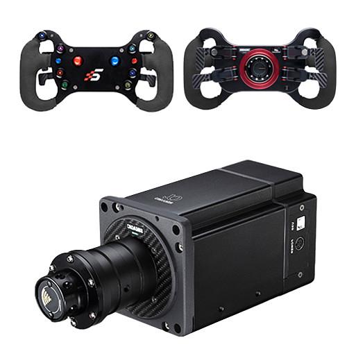 SIMAGIC Direct Drive Servo Alpha Base Racing Gaming Steering Wheel Simulator for Horizon 4 / Euro Truck / DIRT / GTS / PS4 (Double Clutch D GT4 Steering Wheel + Alpha Servo Base)