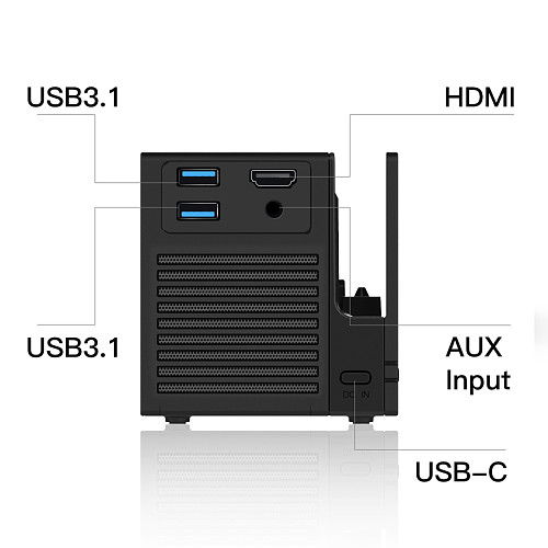 Wireless Multifunctional Portable Projector with HDMI Interface Battery Charging Dock for Switch