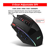 Creative Laser Gaming Mouse RGB Light Wired Mouse for Computer/Laptop