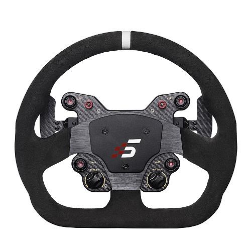 SIMAGIC Direct Drive Servo Alpha Base Racing Gaming Steering Wheel Simulator for Horizon 4/Euro Truck/DIRT/GTS/PS4 (Double Clutch D Steering Wheel + Alpha Servo Base)