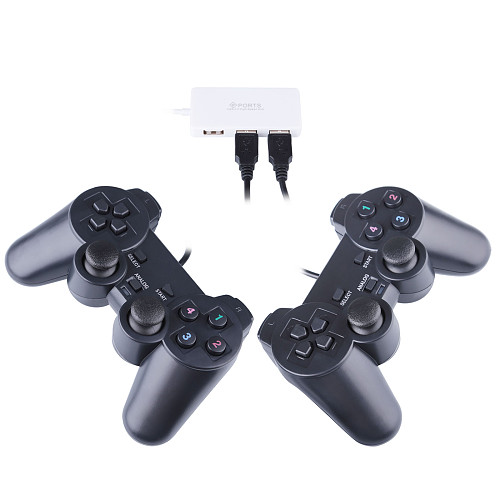 Two Wired Controllers and One Special Adapter Make 4 Players for Pandora Box 11S/12S/18S Pro