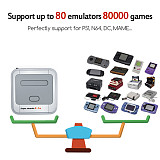 [41500 Games] Super Console X PRO TV Plug & Play Video Game Console Retro System with 2pcs Wireless Controller - 128GB