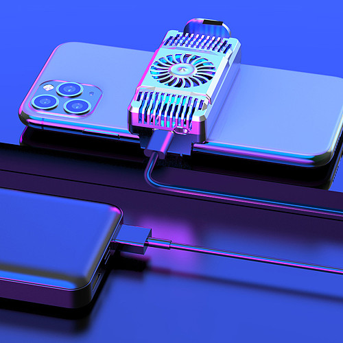 Phone Cooler Radiator for iPhone/Android Gaming Semiconductor Heatsink Cooling Fan