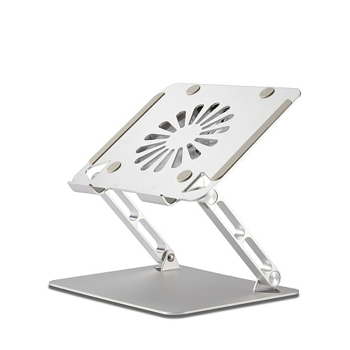 Adjustable Laptop Cooling Pad Riser Foldable Multi-Angle Computer Stand with Cooling Fan N49-3