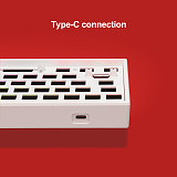 Customized Keyboard Kits 84-Key RGB Backlit Wired Bluetooth 2.4G Mechanical Keyboard Hot Swappable Switches