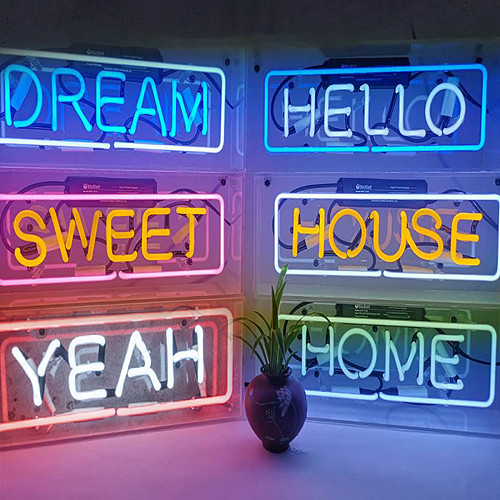 Letters Neon Lights Hanging Acrylic Board Handmade Sign Light Gaming Room Decor
